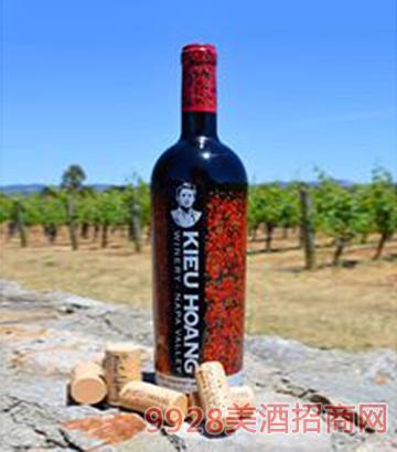 黄凯红标纳帕谷赤霞珠红葡萄酒2011