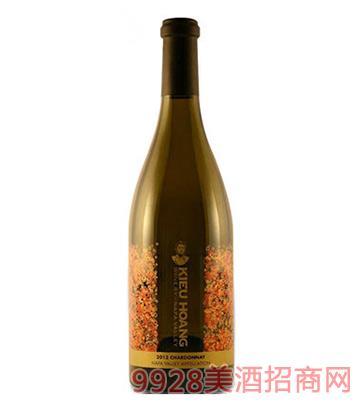 黄凯纳帕谷霞多丽白葡萄酒2013