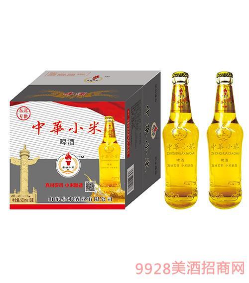东北专供中华小米啤酒·金谷小米酒500ml×12瓶