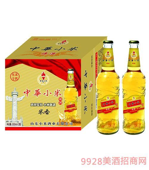 东北专供中华小米啤酒500ml×12瓶