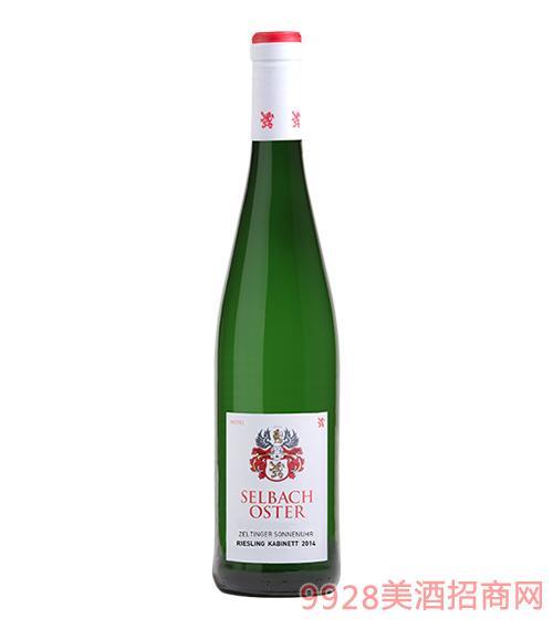 塞尔廷阁村庄日晷葡萄园丽丝玲精选甜白葡萄酒9度750ml