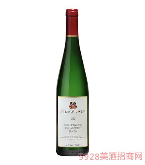 塞尔廷阁村庄日晷葡萄园丽丝玲晚收不甜白葡萄酒12.5度750ml