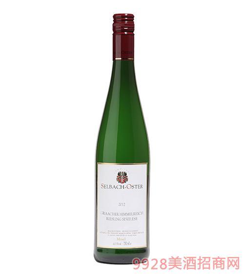 格拉赫天宫丽丝玲晚收甜白葡萄酒7.5度750ml