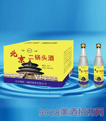北京二锅头酒500mlx12瓶黄