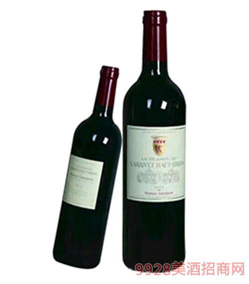 奥比昂副牌-拉里红颜容干红葡萄酒