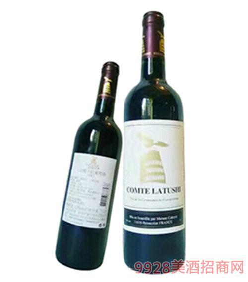 拉图仕伯爵干红葡萄酒-黑标
