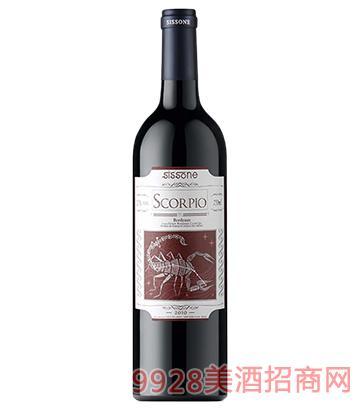 天蝎星座士歌比欧红葡萄酒