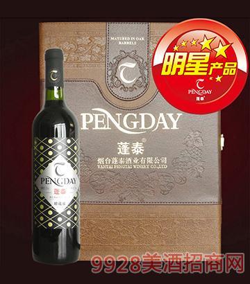 蓬泰干红葡萄酒世博会用酒(双支皮盒)