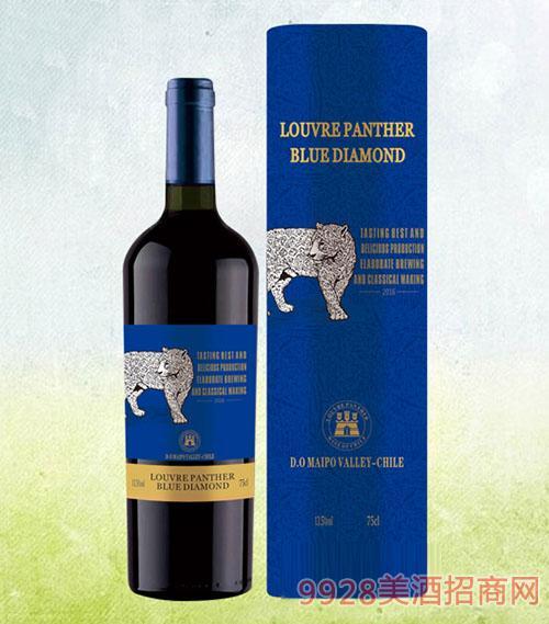 新款豹子�{�A通干�t葡萄酒