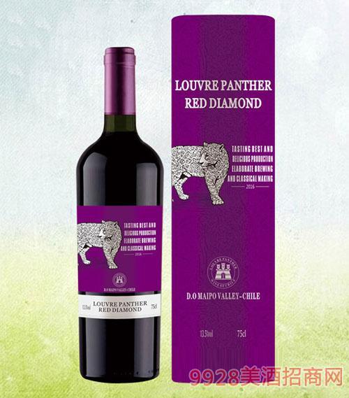 新款豹子圆桶干红葡萄酒