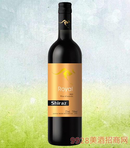 袋鼠西拉干红葡萄酒