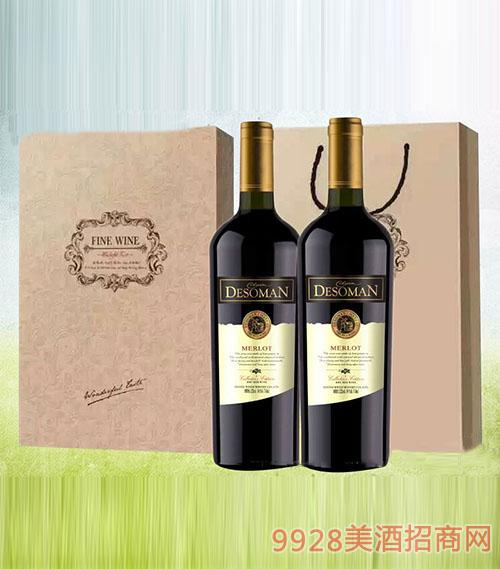 德索曼美乐干红葡萄酒(礼盒)