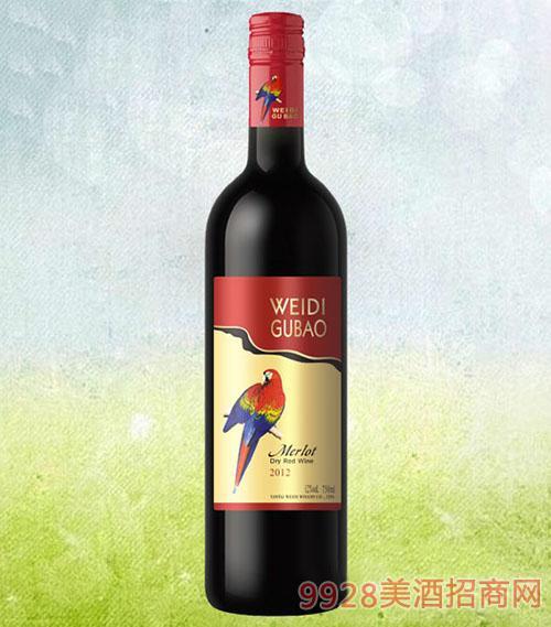红鹦鹉美乐干红葡萄酒