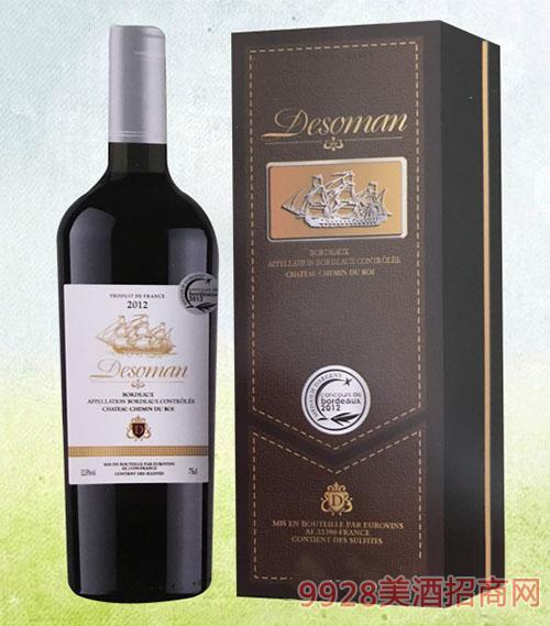 德索曼�y��2012干�t葡萄酒