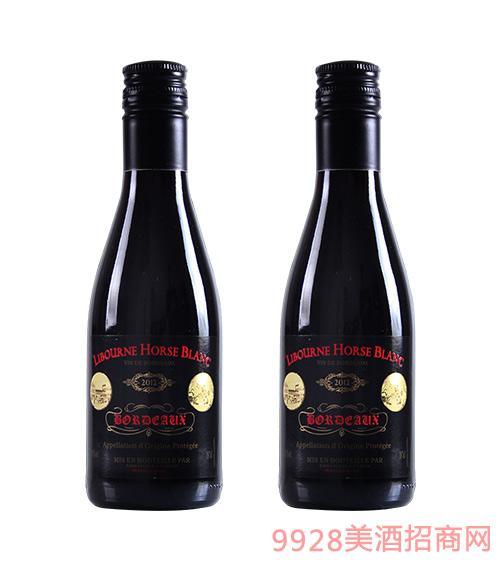 法国利布尔纳白马酒庄葡萄酒2012黑标187ml