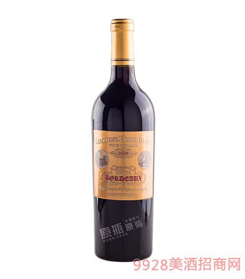 法国利布尔纳白马酒庄葡萄酒2009红标