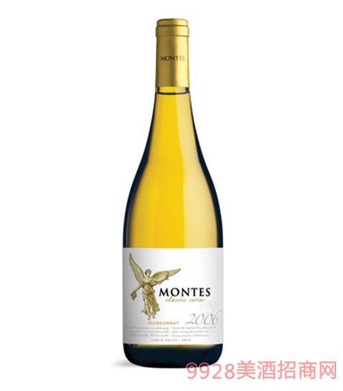 智利蒙特斯经典莎当妮葡萄酒
