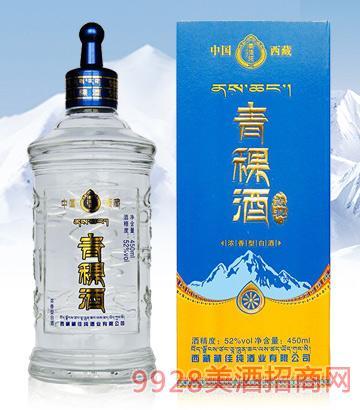 藏佳纯青稞酒藏秘52度450ml