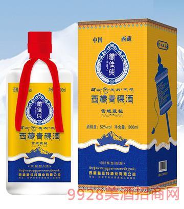 藏佳纯西藏青稞酒雪域藏秘52度500ml