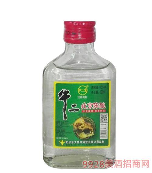 牛二北北京陈酿酒42度100ml