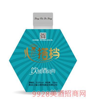 心搭档时尚小酒(蓝)32.8度100ml