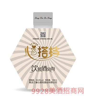 心搭档时尚小酒(白)32.8度100ml