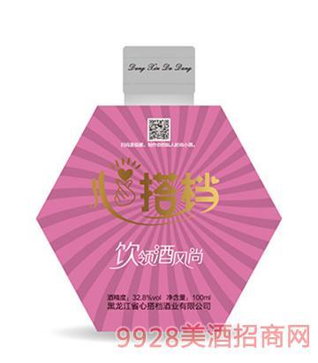 心搭档时尚小酒(红)32.8度100ml