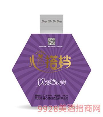 心搭档时尚小酒(紫)32.8度100ml