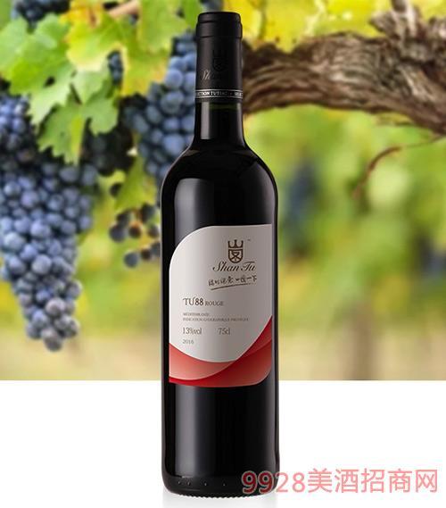 山图干红葡萄酒TU88-13度750ml