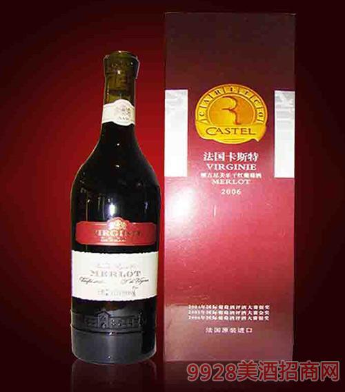 法国卡斯特维吉尼美乐干红葡萄酒