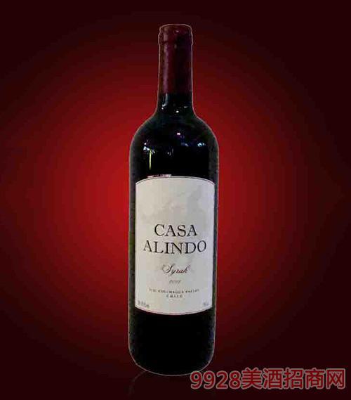 智利艾文庄园西拉干红葡萄酒