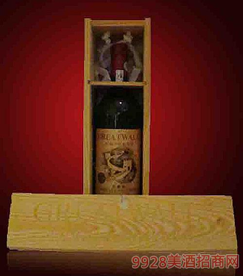 华夏长城92木盒葡萄酒