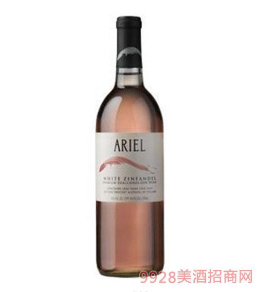 美国爱丽尔(ARIEL)无醇仙芬黛桃红葡萄酒