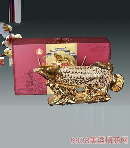 鱼跃龙门陶瓷酒