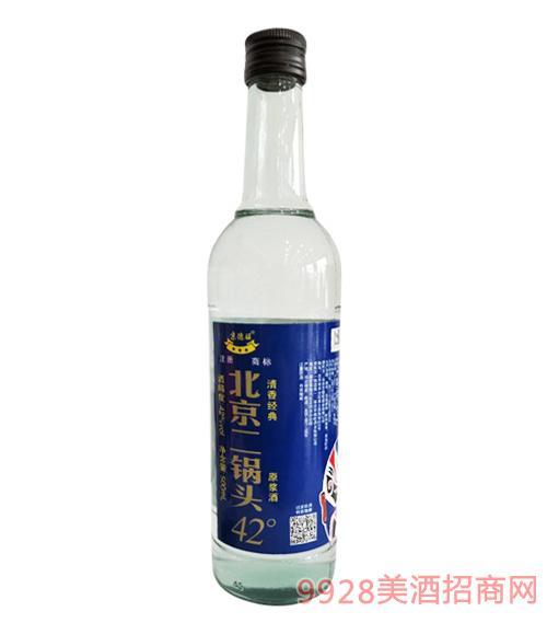 京德旺北京二��^原�{酒42度500ml
