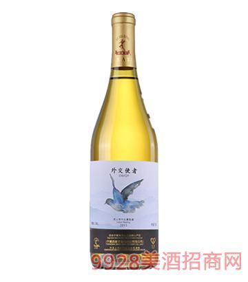 外交使节贵人香干白葡萄酒2013