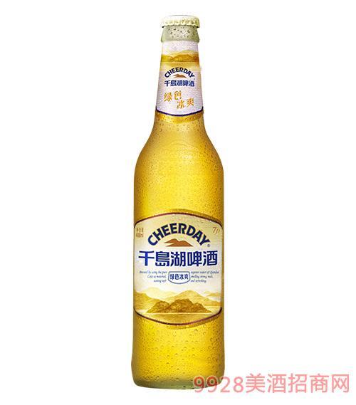 千島湖啤酒7度488ml綠色冰爽