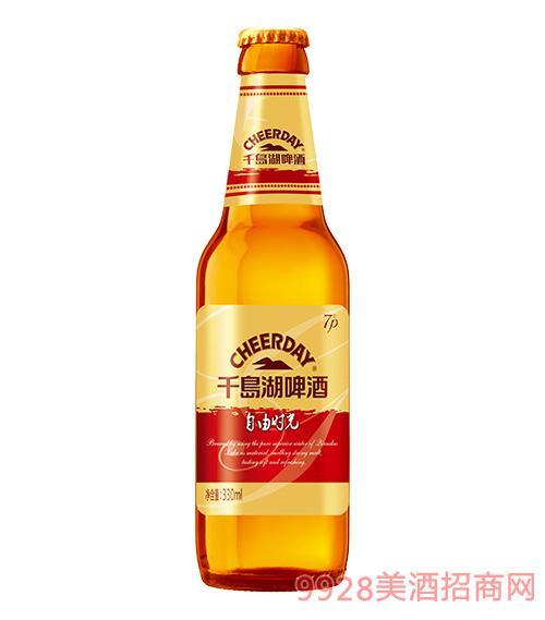 千岛湖啤酒7度330ml自由时光