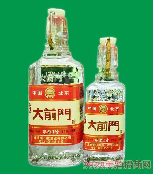 北京大前�T酒珍品1�(�t�耍�43度505ml