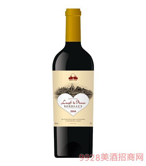 绿松爱我干红葡萄酒14度750ml