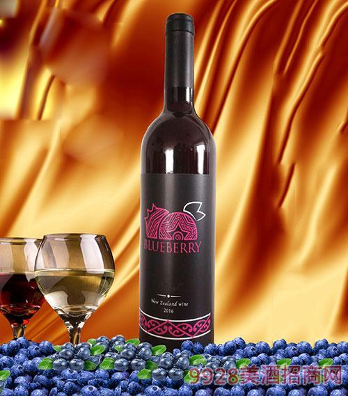 新西兰艾兰蓝莓酒13.5度