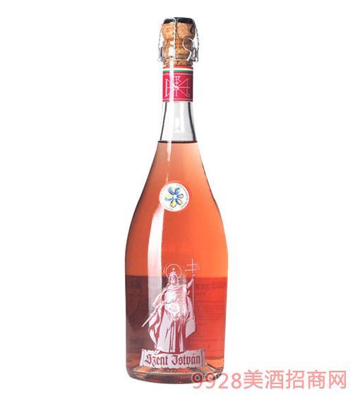 匈牙利圣伊斯凡蓝色妖姬半干桃红起泡酒