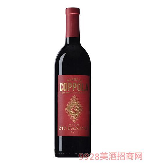 美国柯波拉钻石精选仙粉黛红葡萄酒