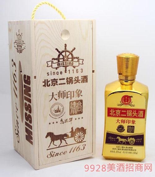 北京二锅头酒大师印象酒43度600ml