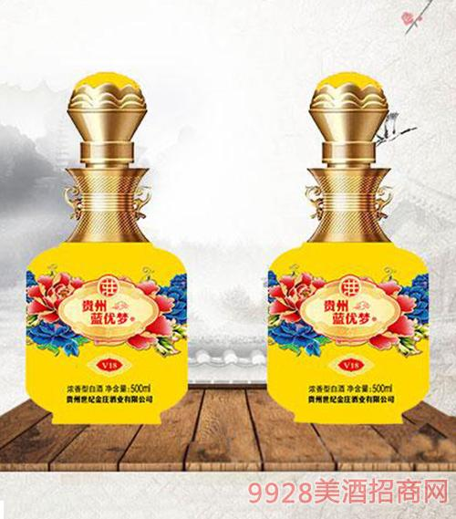 蓝优梦酒52度500ml-黄