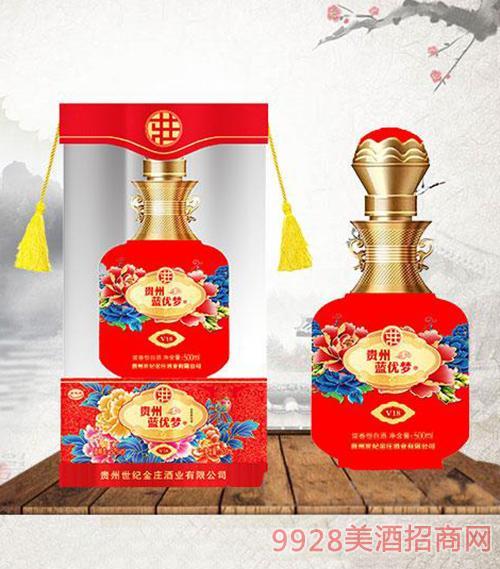 蓝优梦酒52度500ml-红盒装