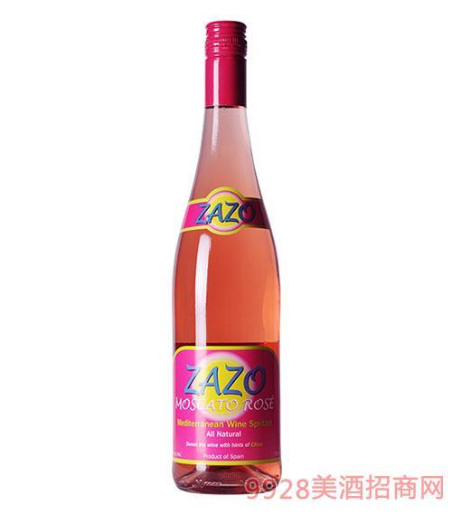 西班牙萨索起泡低醇玫瑰红葡萄酒