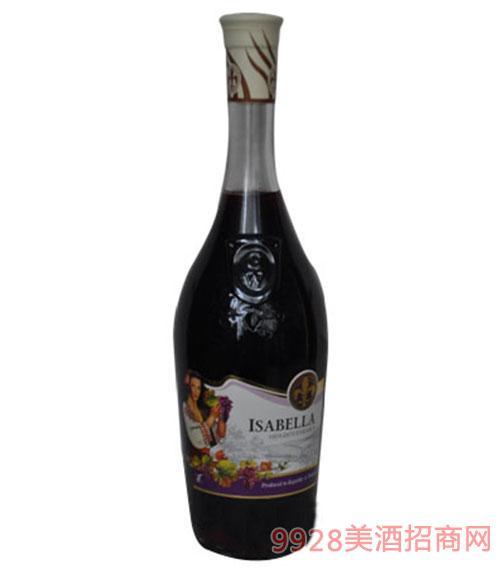 摩尔多瓦原瓶进口多依娜伊莎贝拉半甜红葡萄酒女士专款