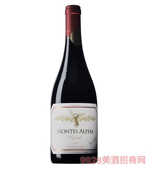 智利蒙特斯欧法西拉干红葡萄酒2010