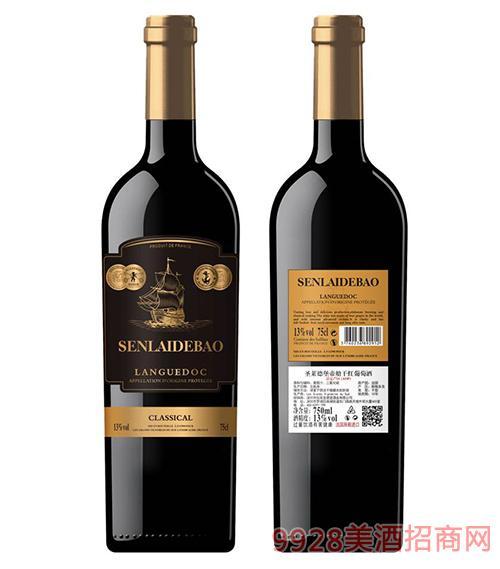 圣�R德堡帝船干�t葡萄酒13度750ml-�S��